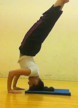 Headstand backbend